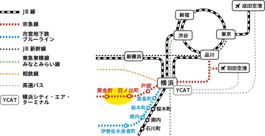 黄金町バザール2020 アクセスマップ